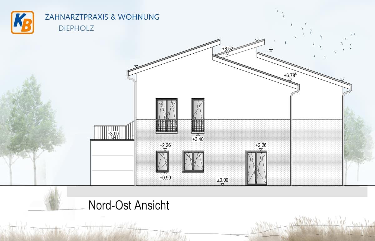 Zahnarztpraxis & Wohnung nord-ost